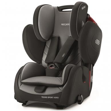 Automobilinės kėdutės RECARO Young Sport Hero Carbon Black