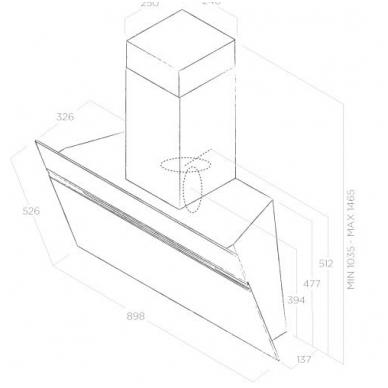 Elica STRIPE URBAN CAST IRON/A/90 4