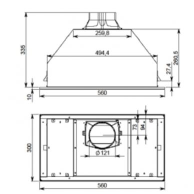 Gartraukiai Falmec Built-in Max Vetro 50 Black 4
