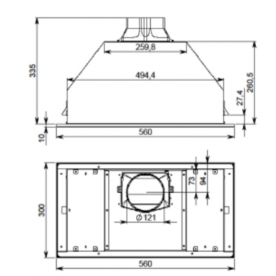 Gartraukiai Falmec Built-in Max Vetro 50 White 4