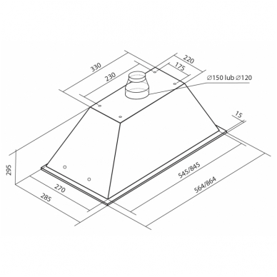Gartraukiai Toflesz Linea Glass LED White 5