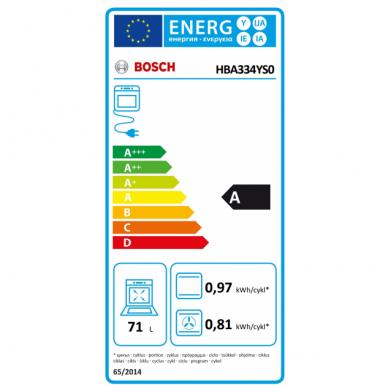 Įmontuojama orkaitė Bosch HBA334YS0 3