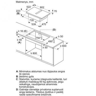 Kaitlentė su integruotu gartraukiu Bosch PIE811B15E 3