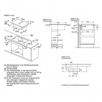 Kaitlentė su integruotu gartraukiu Bosch PIE811B15E 4