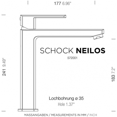 Maišytuvas Schock NEILOS Chrom 4