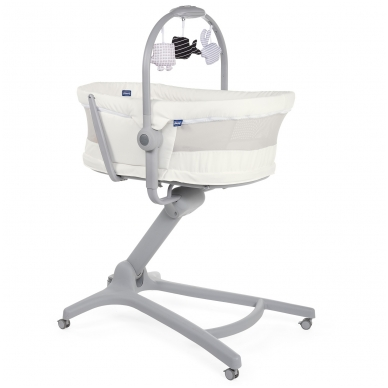 Mobilus lopšys Chicco HUG 4 IN 1 AIR White Snow