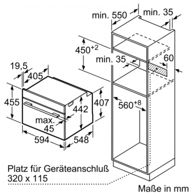 Orkaitė Bosch CDG634AS0 3