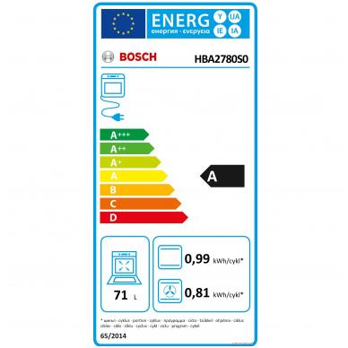 Orkaitė Bosch HBA2780S0 3