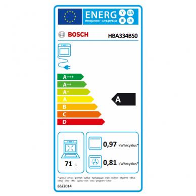 Orkaitė Bosch HBA334BS0 3