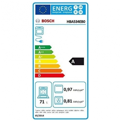 Orkaitė Bosch HBA534EB0 3