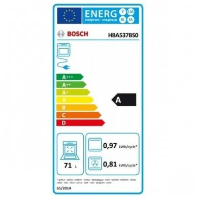 Orkaitė Bosch HBA537BS0 3