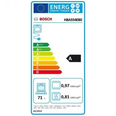 Orkaitė Bosch HBA554EB0 3