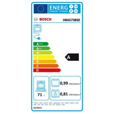 Orkaitė Bosch HBA573BS0 3