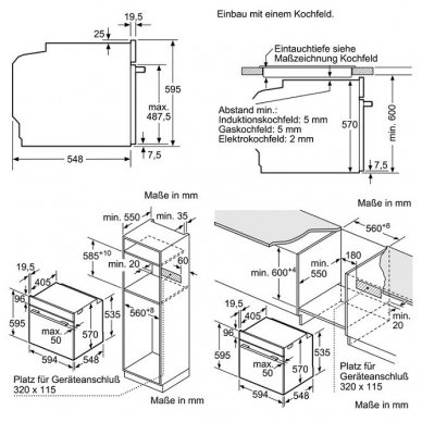 Orkaitė Bosch HBA573BS0 4