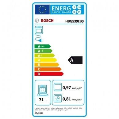 Orkaitė Bosch HBG539EB0 3