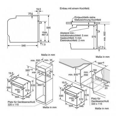 Orkaitė Bosch HBG539EB0 4