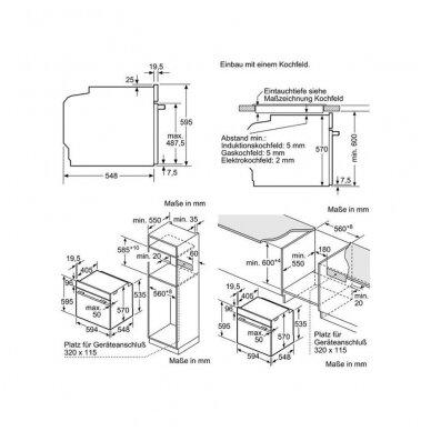 Orkaitė Bosch HBG5780S6 5