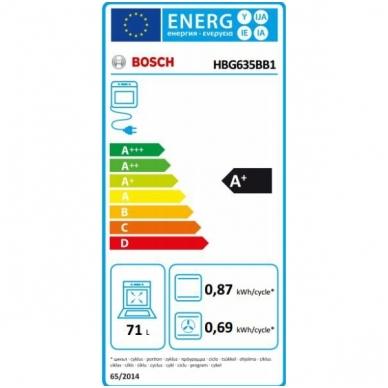 Orkaitė Bosch HBG635BB1 4