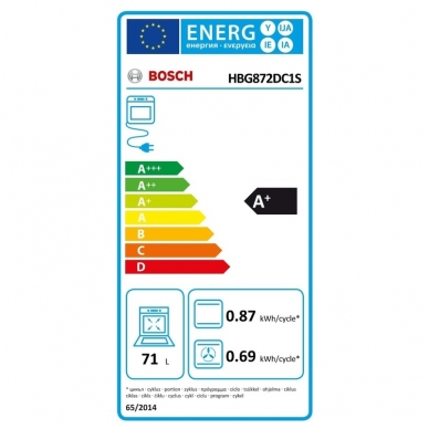 Orkaitė Bosch HBG872DC1S 3