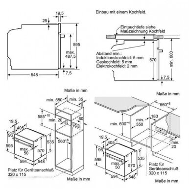 Orkaitė Bosch HBT537FB0 4