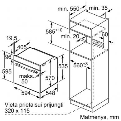 Orkaitė Bosch HRG5584S1 4