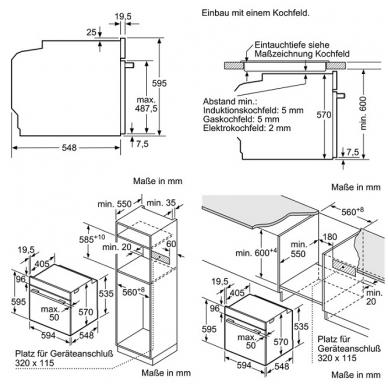 Orkaitė Siemens HB578ABS0 4