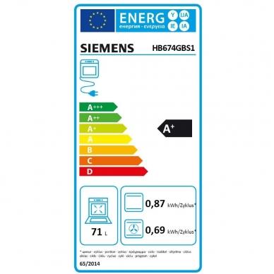 Orkaitė Siemens HB674GBS1 3