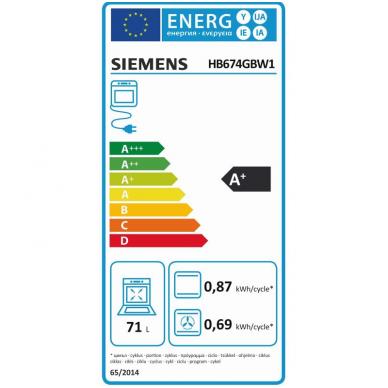 Orkaitė Siemens HB674GBW1 4