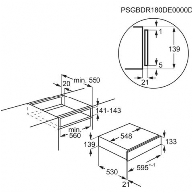 Pašildymo stalčius Electrolux KBD4T 3