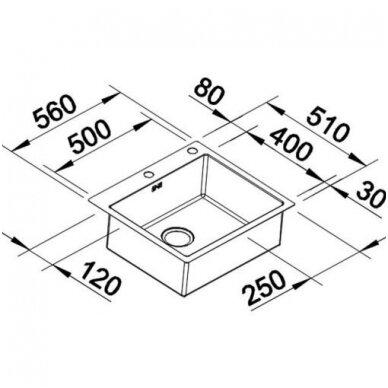 Plautuvės Blanco CLARON 500-IF/A Durinox 4