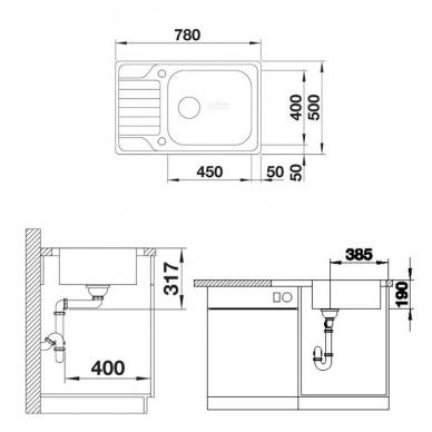 Plautuvės Blanco Dinas XL 6 S Compact 3