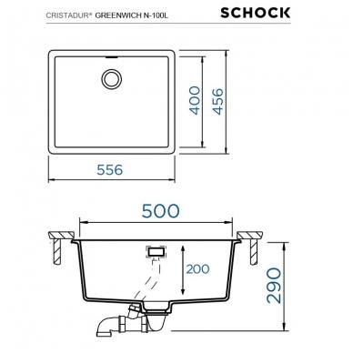 Plautuvės Schock Greenwich N-100L (spalvų pasirinkimas) 3