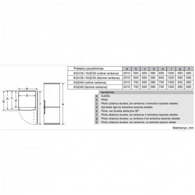 Šaldytuvai Bosch KGE36AWCA 3