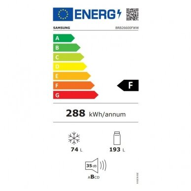 Šaldytuvas Samsung BRB26600FWW 3